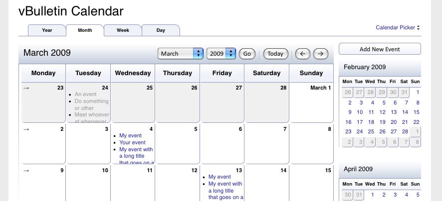 calendar monthview