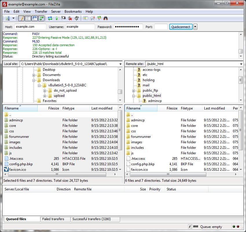 vBulletin Manual - Uploading vBulletin Scripts to Your Web